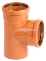 Тройник 87о НПВХ канализационный с трехслойной стенкой со вспененным внутренним слоем
